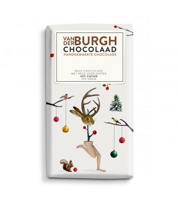 Melkchocolade met hele hazelnoten (34% cacao)