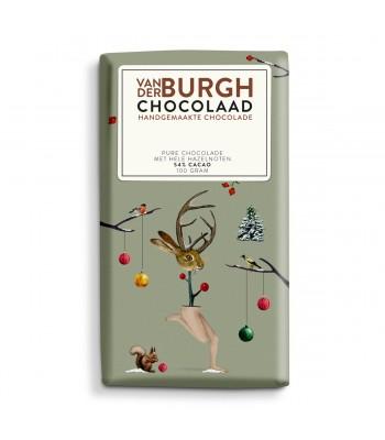 Pure chocolade met hele hazelnoten (54% cacao)