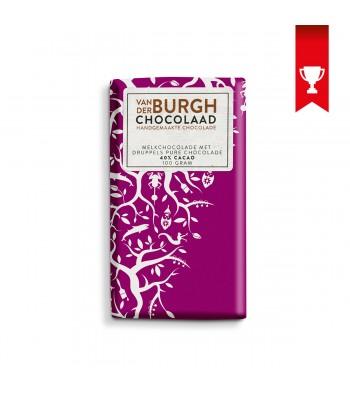 Melkchocolade met druppels pure chocolade (40% cacao)